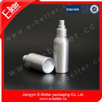 Brush Aluminum spray bottle for cosmetics