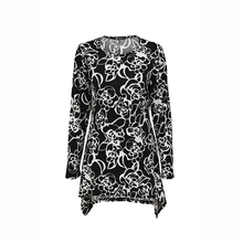 Casual long sleeve dubai flower printed blouse for muslim women