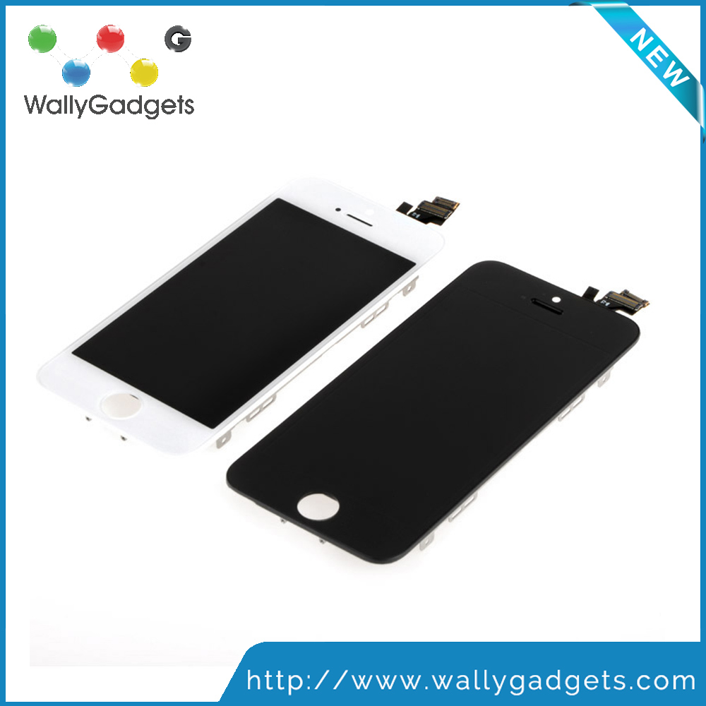 High Quality A++++ For iPhone 5 5G LCD Touch Screen Digitizer Assembly Black White Color LCD Display Complete