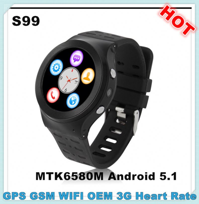 S99 MTK6580M android wifi big screen china watch phone