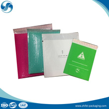 Factory Wholesale Custom Printed Pink Colored Plastic Bubble Mailing Bag Padded Envelope/Metallic Bubble Mailer