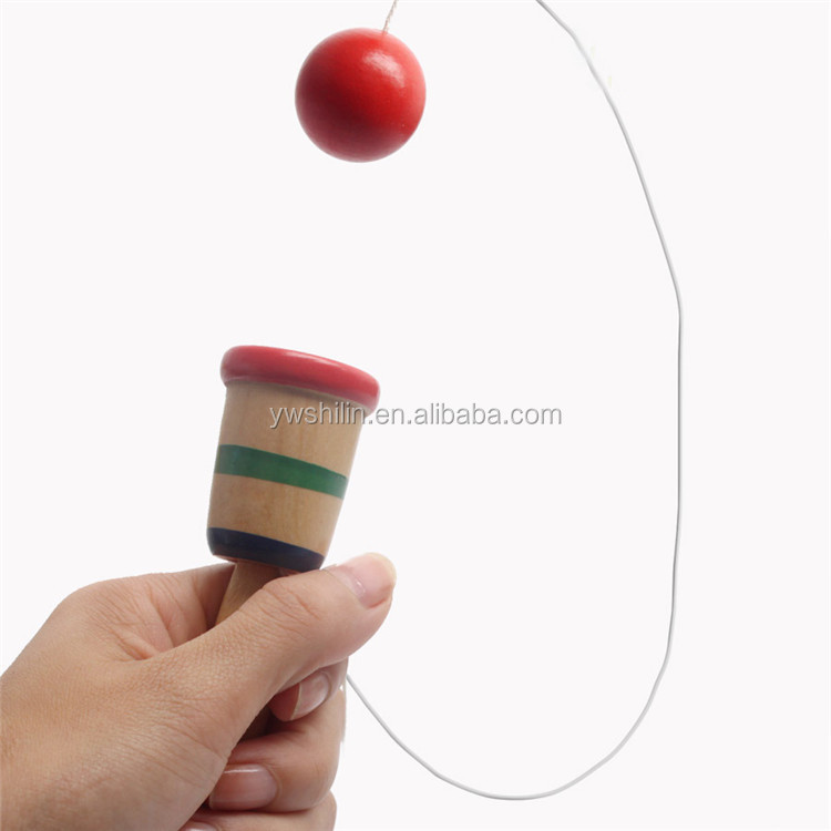 hot sales 100% handmade Wooden Cup and Ball toys