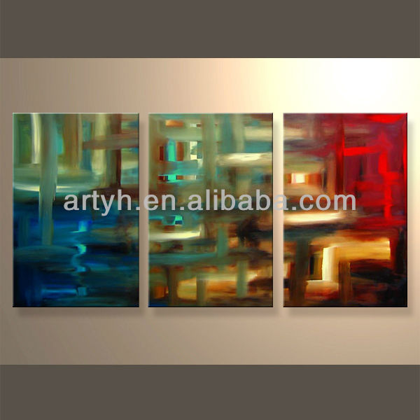 Newest Handmade Abstract Group Canvas Oil Art Painting For Decoration Home