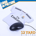 Customized football sports madrid logo team clubs smooth mouse pad