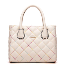 Handcee high demand elegant women beige genuine crocodile handbag