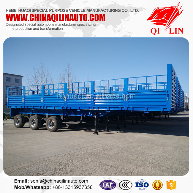 High Bed Stake Semi Trailer For Transport pany Buy