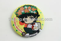 2013 hot selling Customer Fashion Designed ,Printed tin badge ,tin plate