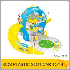 Funny cartoon slot car toy car track plastic OC0214543