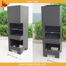 outdoor square steel chimineas
