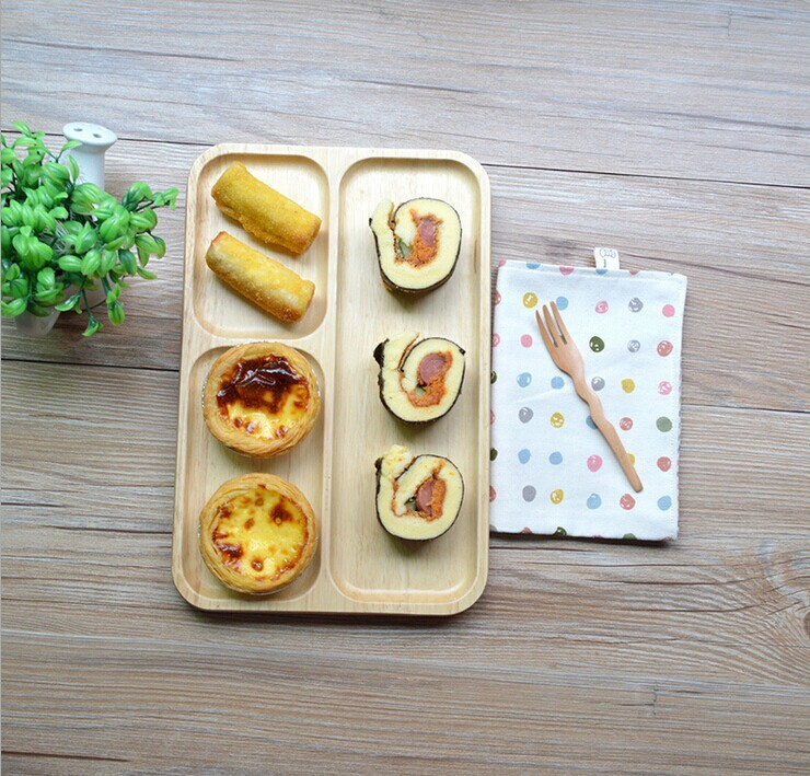Cheap Disposable <strong>Natural</strong> Wooden Unique Texture Children Wooden Food Plate
