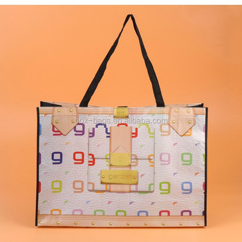 recycled and reusable laminated non woven shopping bag