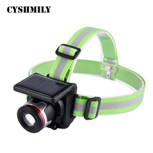 CYSHMILY XPE Bulb 3W 300 Lumen Zoom Charging Rechargeable Headlight Solar Led Headlamp