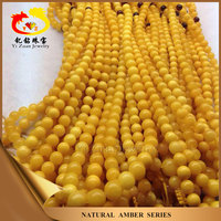 Good polished yellow color natural baltic amber prices