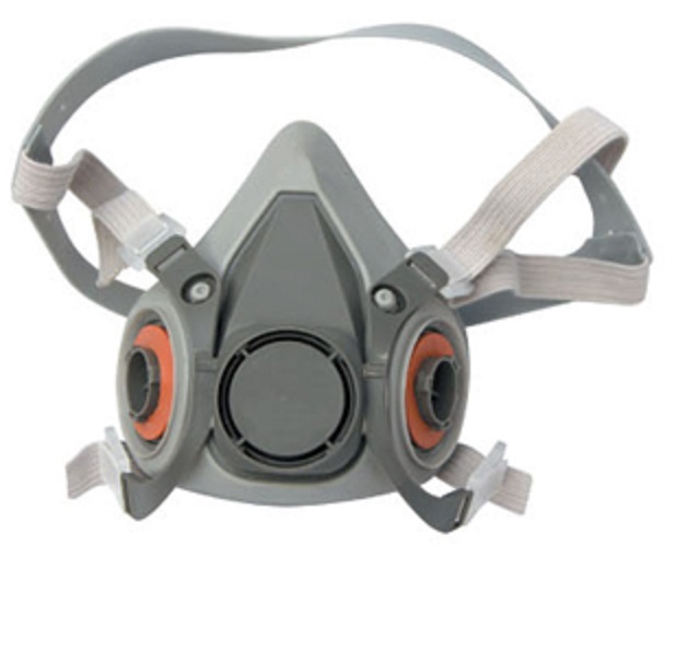 Double filter smoking full face gas mask