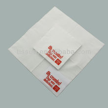 Disposable printed paper napkin