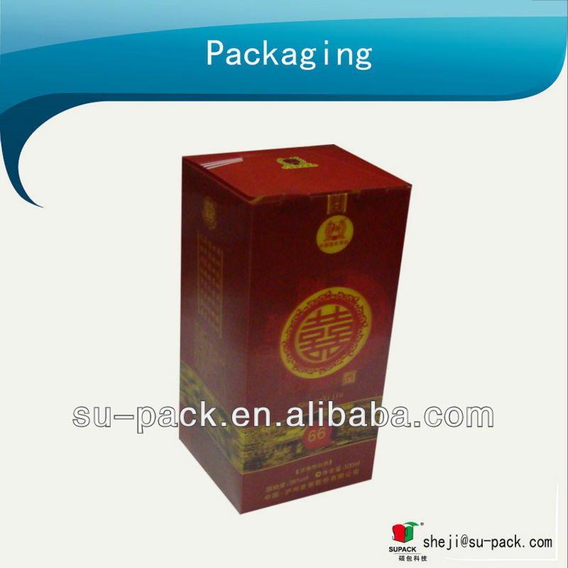 wine bottle 3D plastic packing boxes