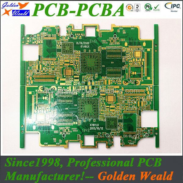 2oz 4 oz copper thickness pcb fire alarm system control panel pcba