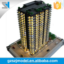 High rise residential building model for real estate, scale house model