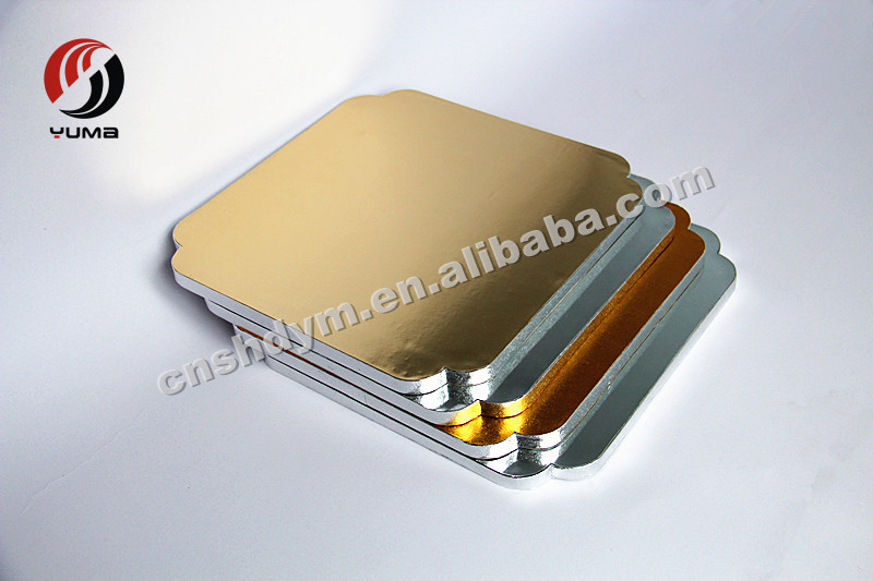 customized cardboard high quality paper cake tray