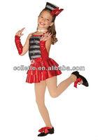 red cheerful design cheap jazz dance child costume MB0464