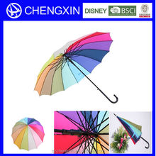14k Promotional Rainbow Colorful Umbrellas with logo prints