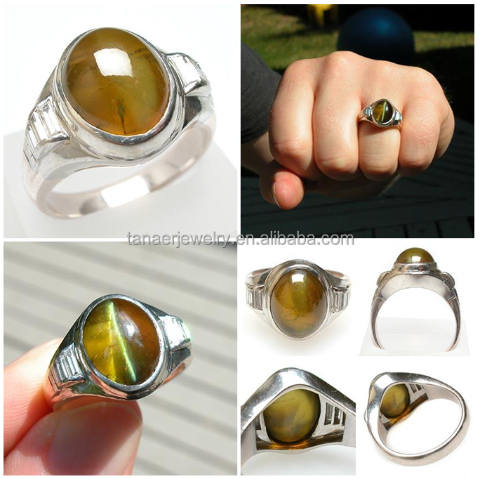 2015 hot Amazing Wedding Jewelry Cat's Eye Chrysoberyl Diamond Ring cats eye ring