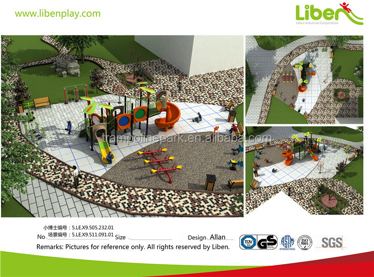Liben custom made best selling outdoor playgrounds kids plastic playsets for kids