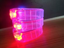 hot selling glowing led radio control wristband bracelet for night club /concert /holiday/party