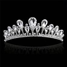 I più Venduti All'ingrosso Wedding Hair Jewelry Crystal Crown Fascia Per La Vendita