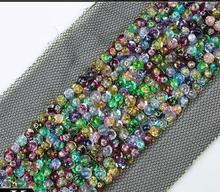 Wholesale! Beaded Lace Trim Handmade Sew On Mesh Lace With Colorful Rhinestones Trims