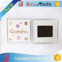 Wholesale custom cheap blank clear acrylic refrigerator magnet fridge magnet frame