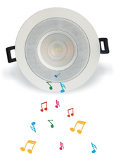 music player bluetooth led light speaker downlight 9w smart phone control led RGB downlight