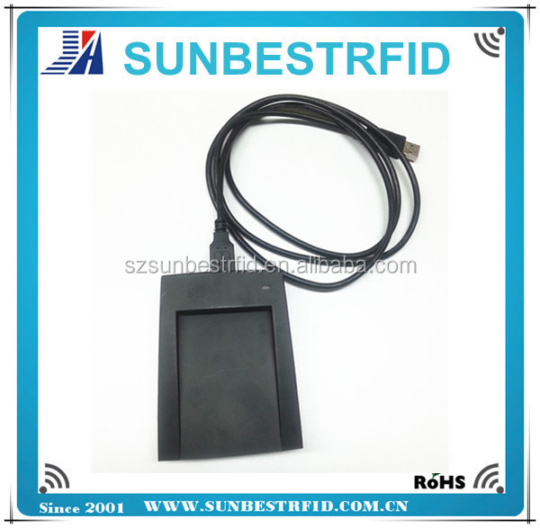 125khz or 13.56mhz desktop usb rfid card reader which easy to read