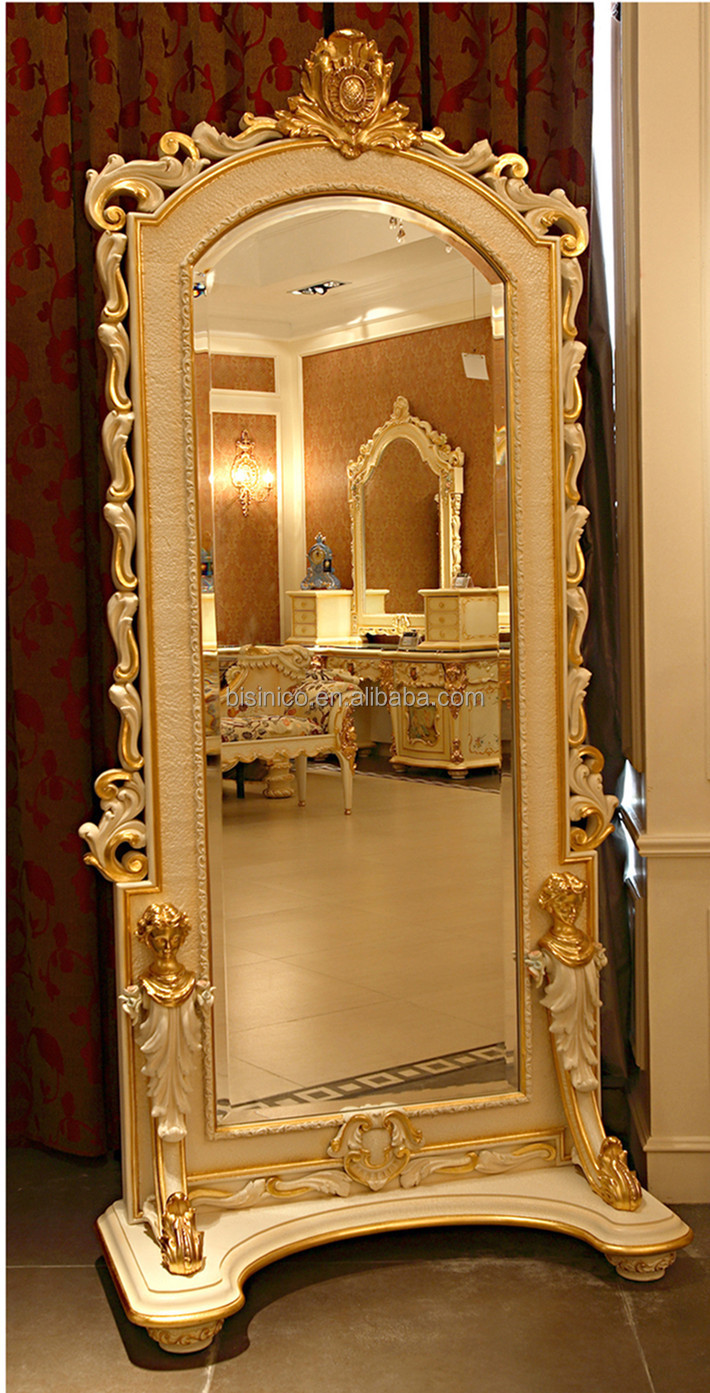 Bisini french rococo bedroom furniture full length mirror for French rococo furniture