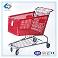 160L New-style plastic shopping trolley cart with baby seat