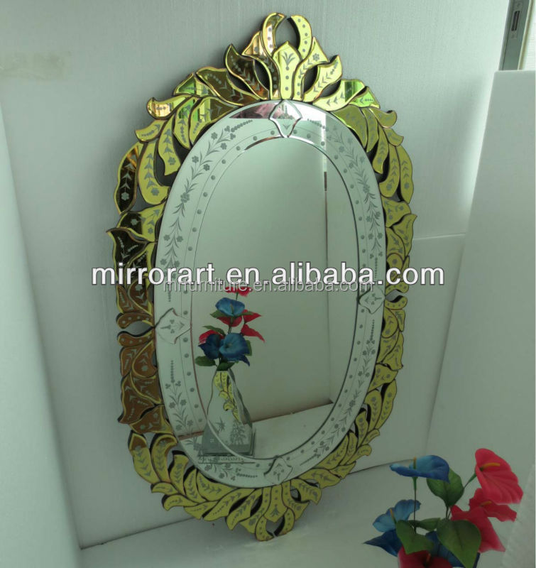 ornate gold frame mirror for bathroom