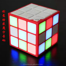 Hot selling perfect gift portable mini wireless magic cube led melody bluetooth speaker