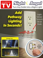 Night Angel AS SEEN ON TV TRANSFORM ANY OUTLET INTO A CONVENIENT NIGHT LIGHT