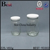 225ml 450ml screw top gallon glass jar with lid