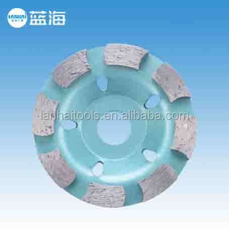 80mm diamond grinding cup wheel wet general Masonry Material stone concrete Caking Disc