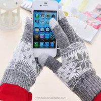 New Fashion Warm Winter Jacquard Touch gloves for iPone, Tablet PC, ATM devices wholesale