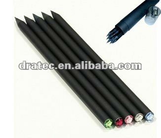 Diamond pencil, Promotional pencil, black wood pencil