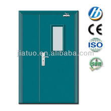 one and half leaves fire door with glass