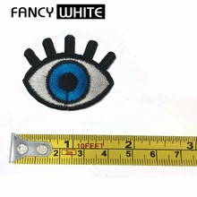 Embroidery sequin cartoon wholesale patches designer custom applique eyes