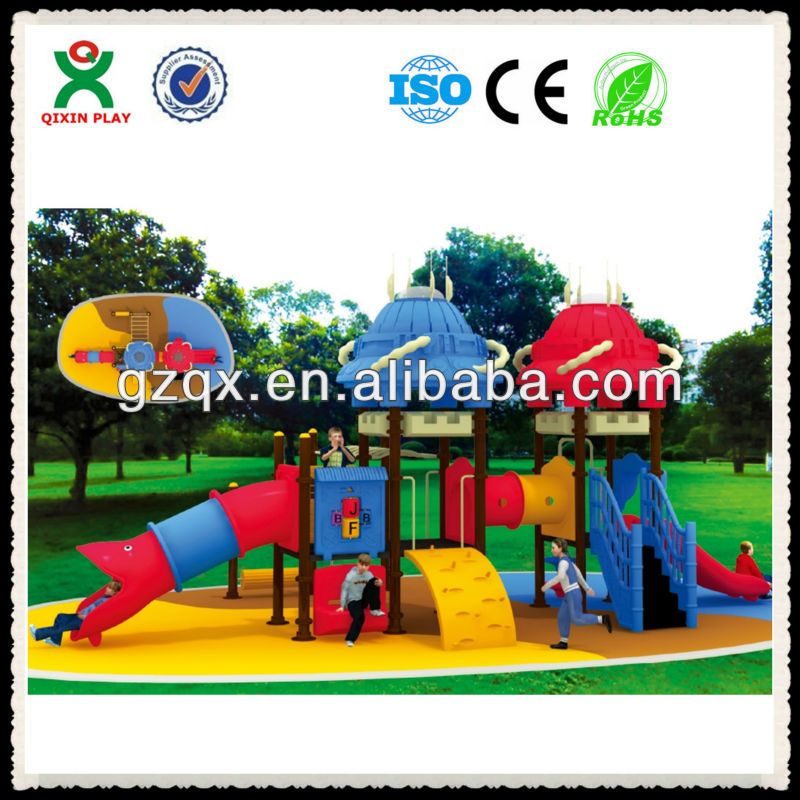 Colorful Science theme kids playground QX-038A/ children s playground / outdoor playground equipment for preschool
