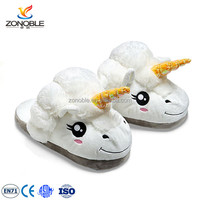 Custom Novelty Plush Unicorn Slippers Household