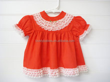 Wholesale vintage baby dress , toddler cotton lace summer dress , new born dress