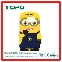 Cute Cartoon Yellow Despicable Me Minion 3D Toy Silicone Phone Case Cover for Samsung s7 s7 edge