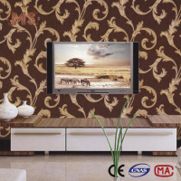 oman wholesale 2016 pvc wallpaper/natural wallpaper