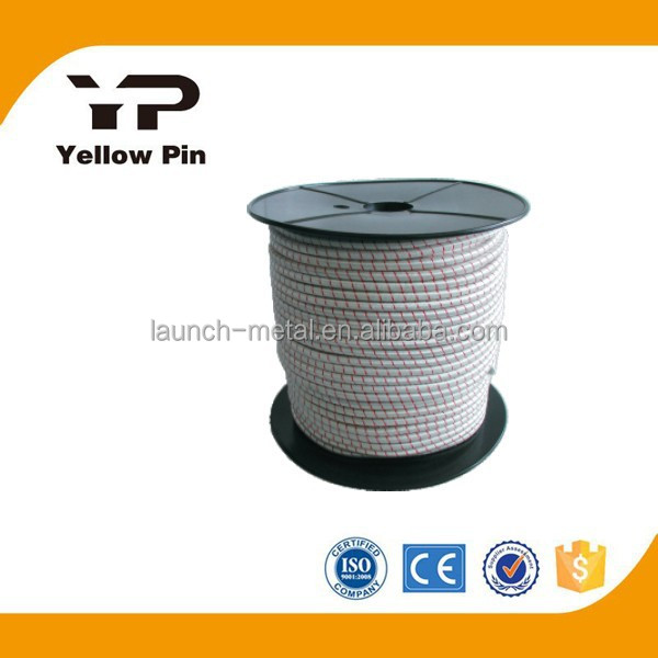 Shock Cord High flexible with latex core, nylon jacket, UV-Stabilized. Many colors, delivered on spool